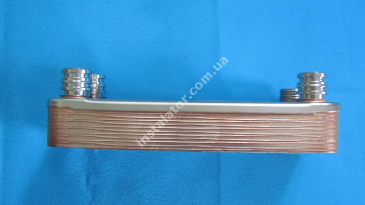 065131 Теплообмінник вторинний ГВП 12 пластин VAILLANT PRO-PLUS (зелені ручки) full-image-2