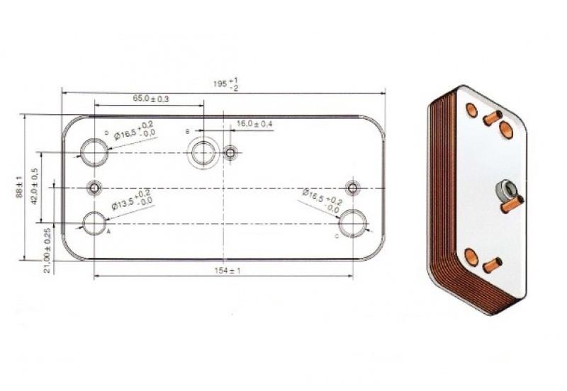 17B1951409 Теплообмінник вторинний Zilmet /SIME Format. Zip BF 14 пластин  full-image-3