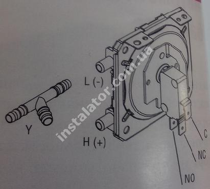 998484-01 Пресостат повітря (реле тиску димових газів) ARISTON Uno MFFI 55Ра full-image-2