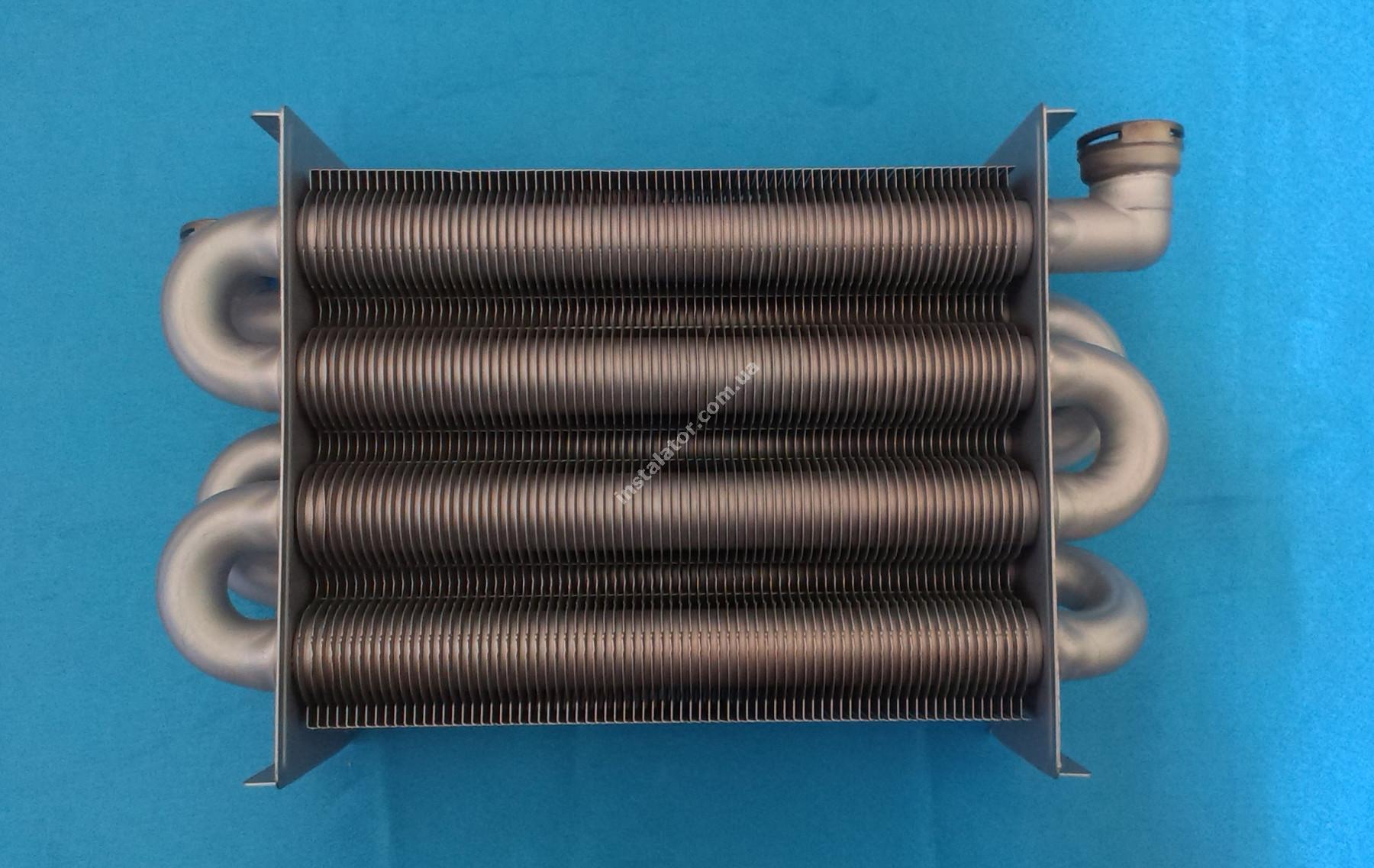 65100425 Теплообмінник первинний ARISTON Uno (турбо) full-image-0