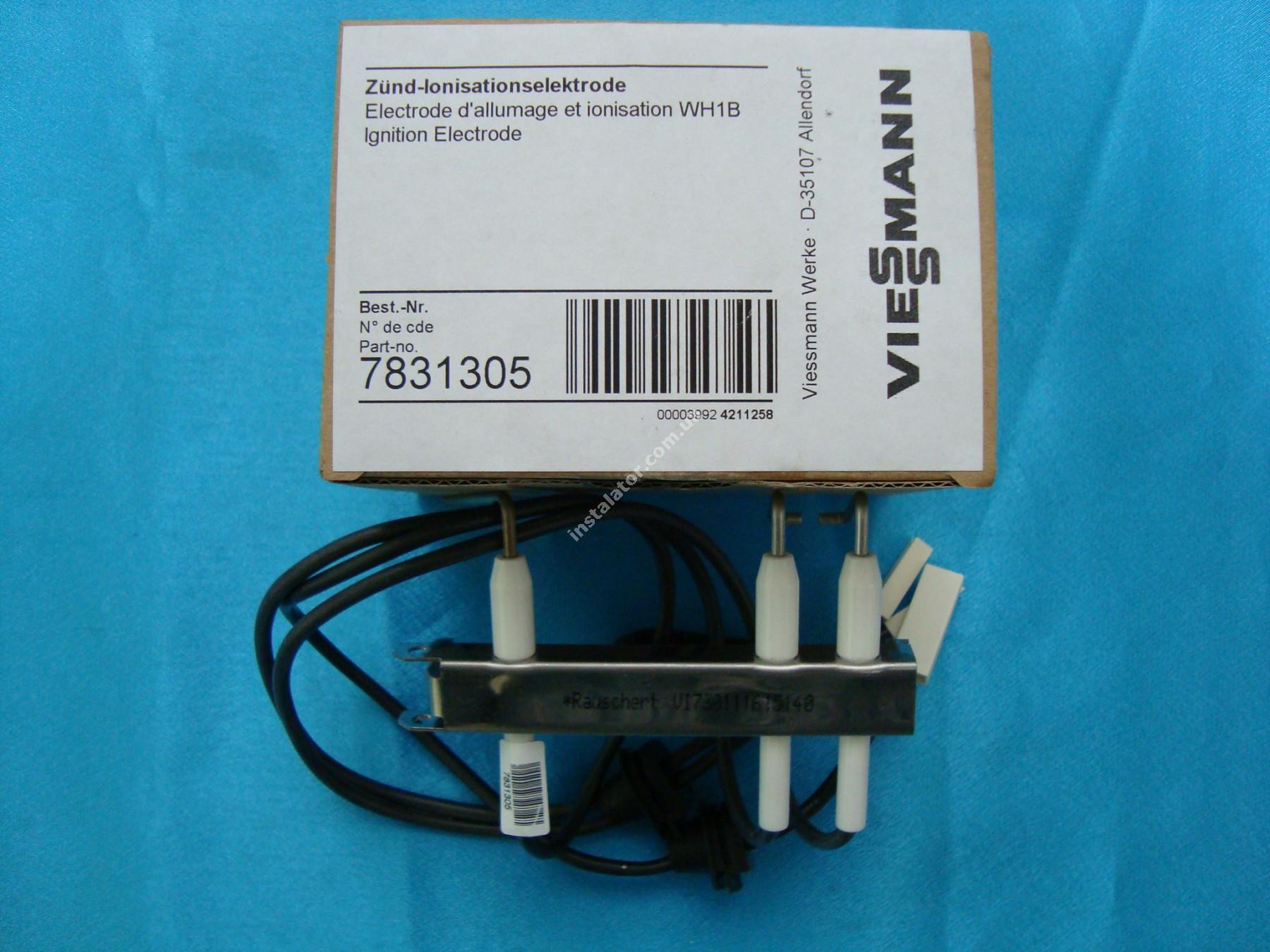 7831305 Електрод іонізації та розпалу Viessmann WH1B full-image-1