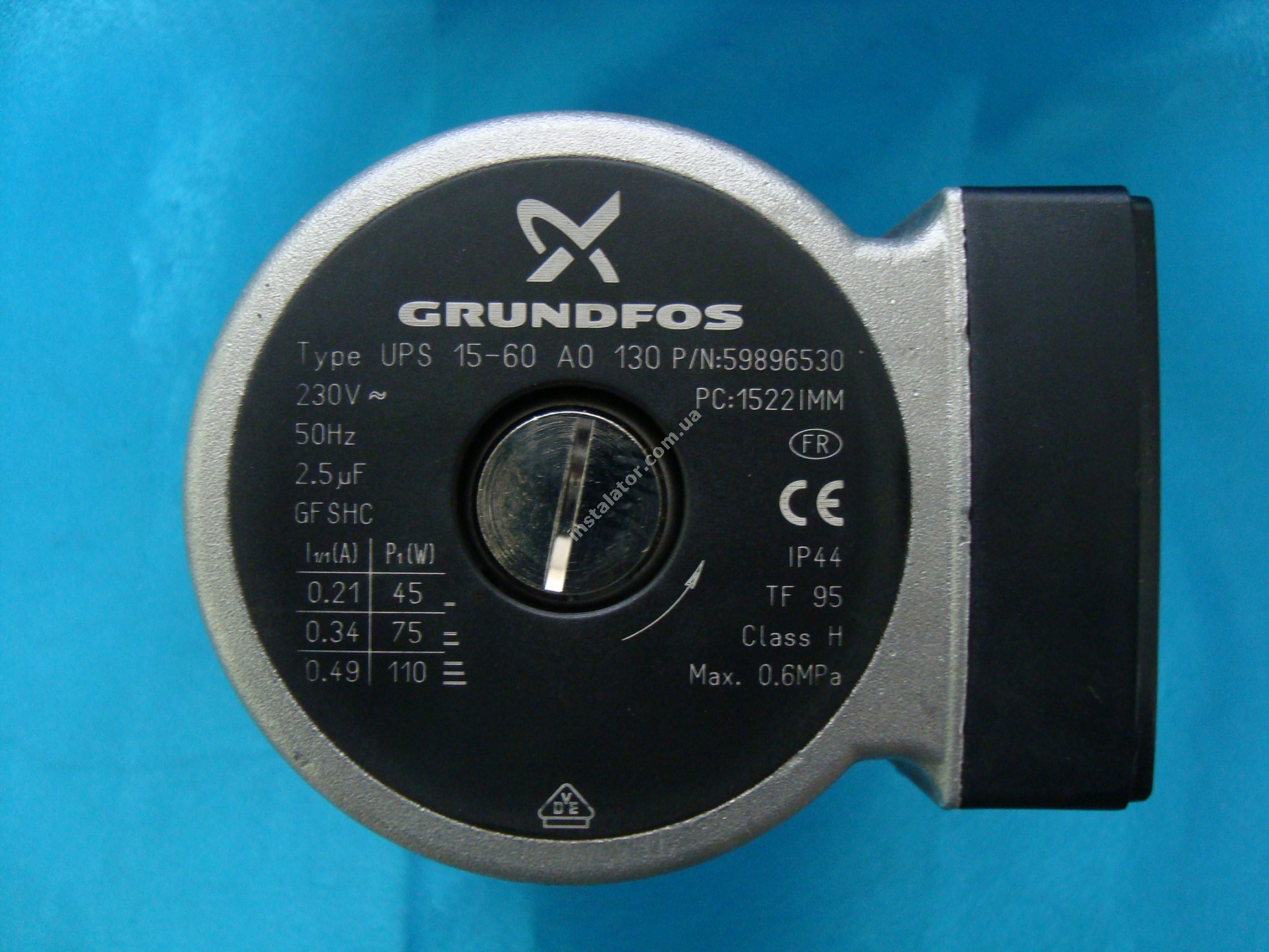 1.015610 Циркуляційний насос Grundfos UPS 15/60 IMMERGAS full-image-4