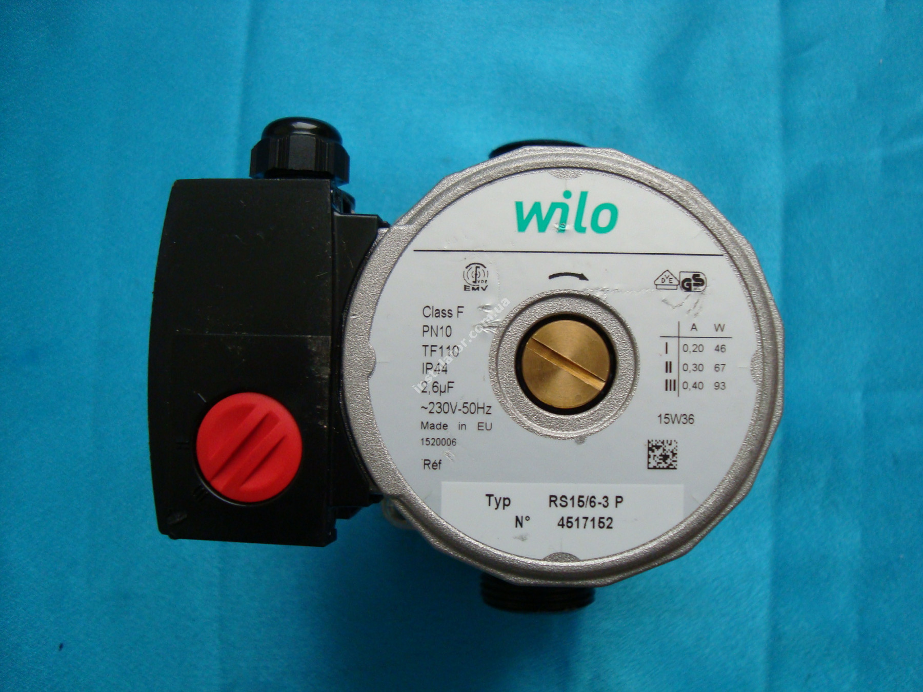 Циркуляційний насос Wilo RS 15/6 база 130 full-image-1