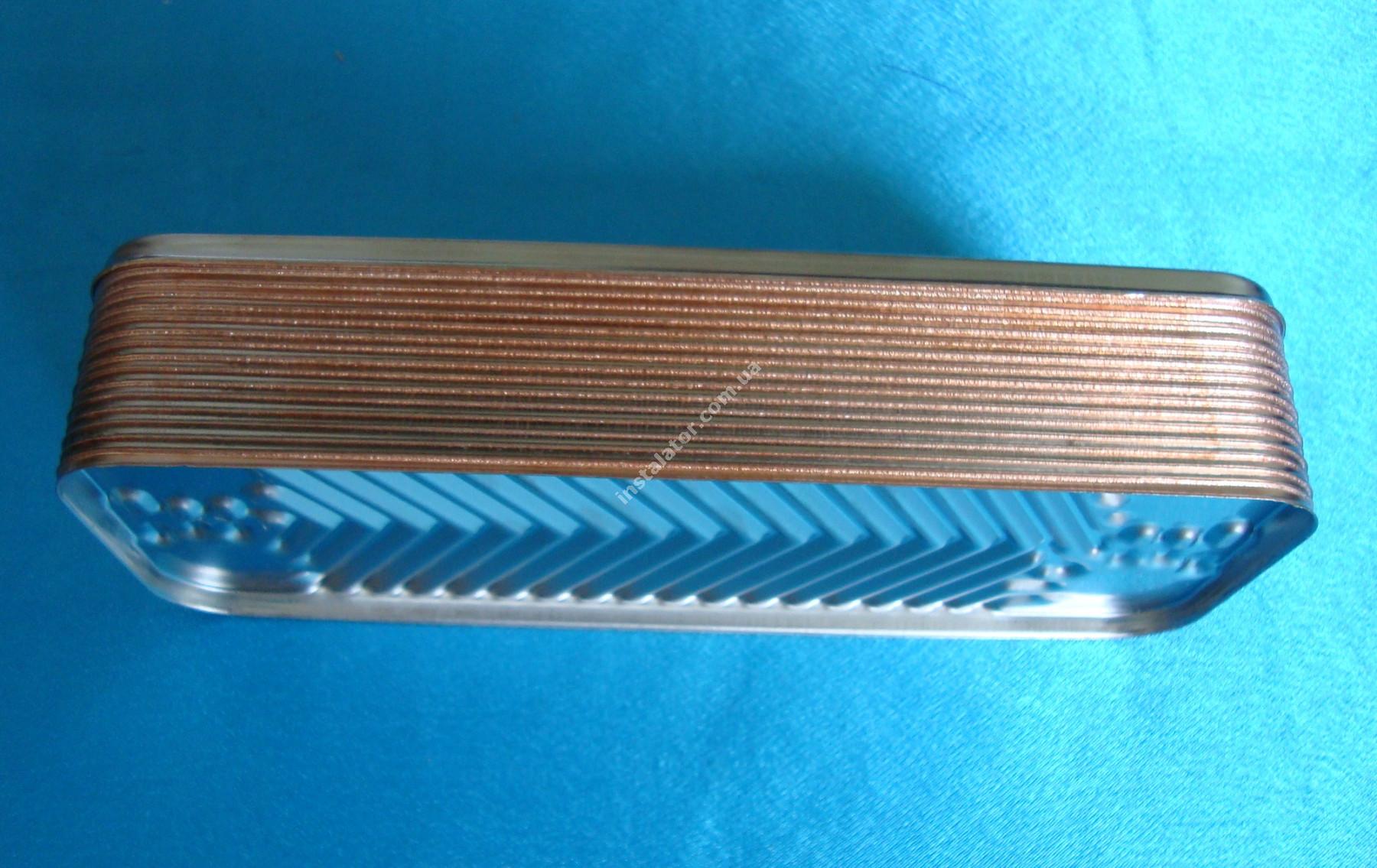 17B2071606 Теплообмінник вторинний ГВП 16 пластин ARISTON Microgenus/Microgenus Plus ZILMET full-image-1