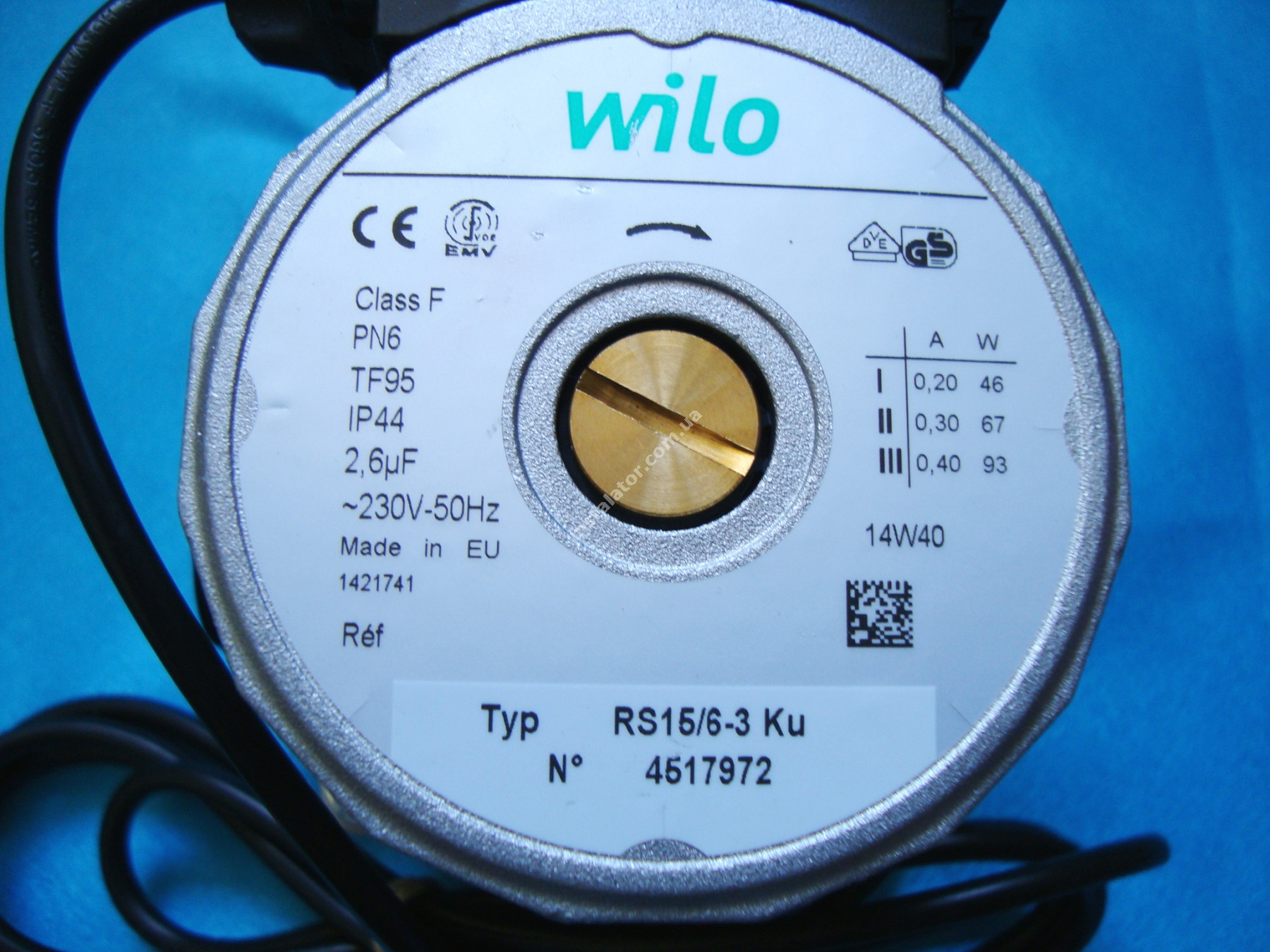 Циркуляційний насос Wilo RS 15/6 база 130 full-image-5