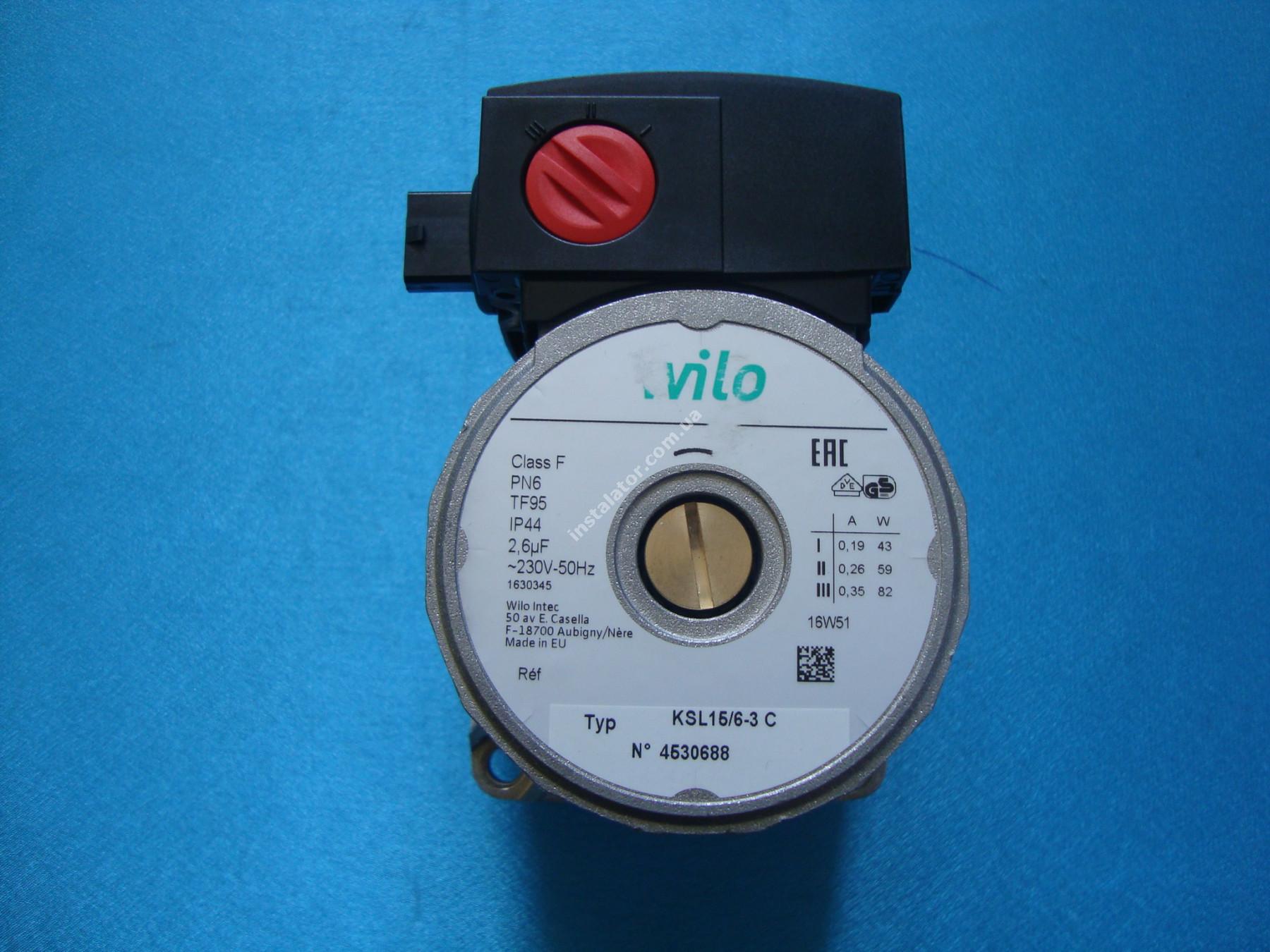 Циркуляційний насос Wilo 15/6-3KSL CLF12 full-image-2