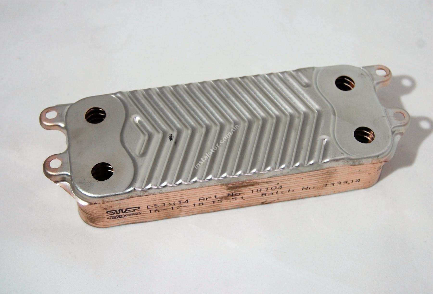 Теплообмінник ГВП з вушками VAILLANT TEC PRO, PLUS, R1 14 пластин full-image-1