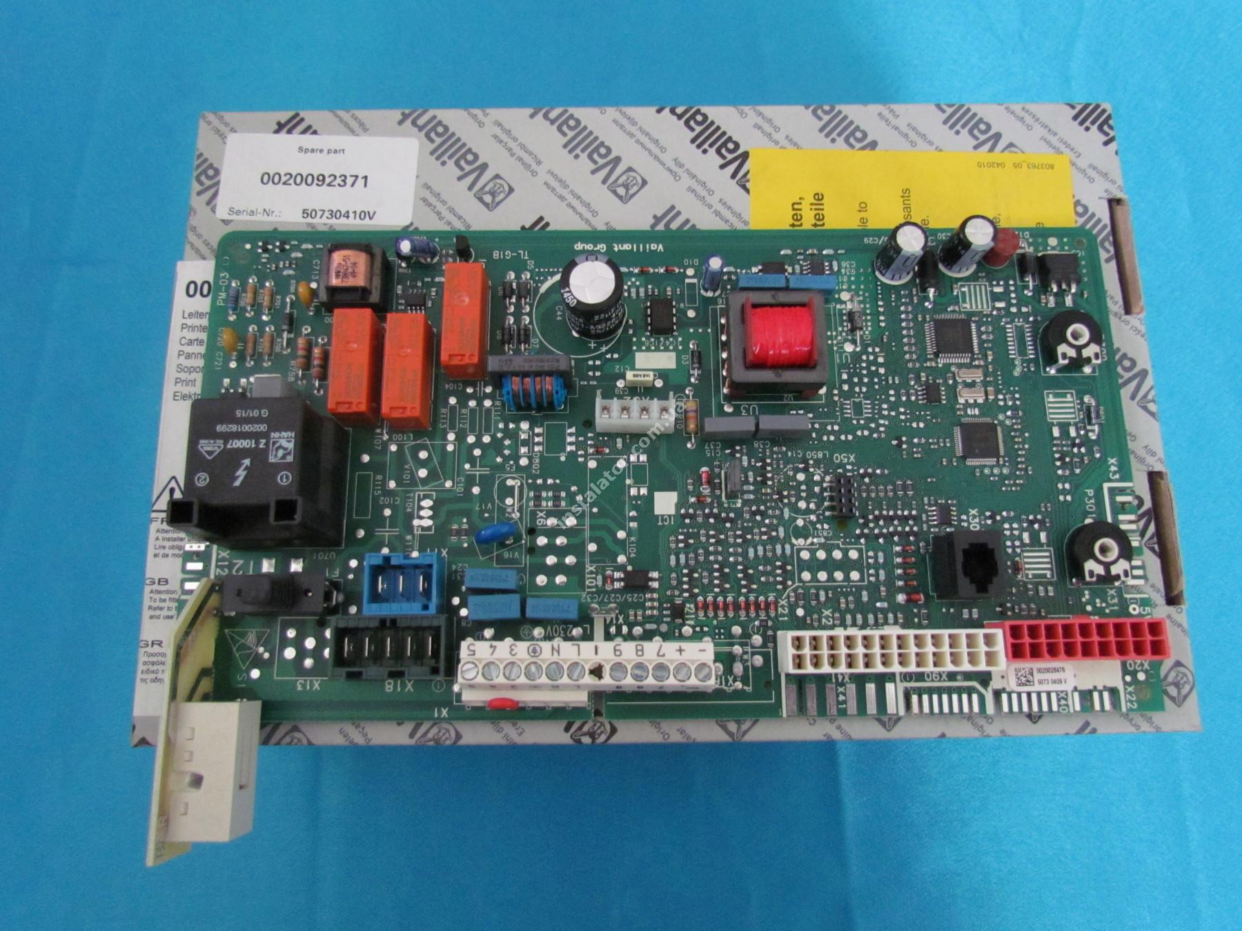 0020092371 Плата керування - універсальна VAILLANT Atmo/Turbo TEC Pro/Plus full-image-0