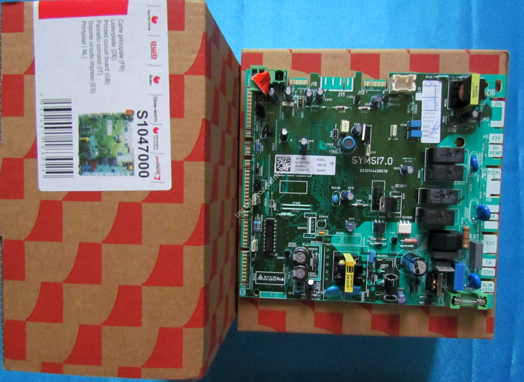 S1047000 Плата керування (основна) SAUNIER DUVAL ThemaClassic, Isofast, Combitek full-image-0