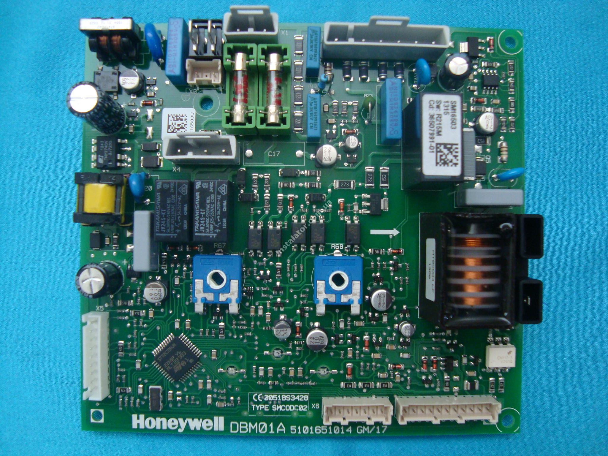 39819530 (36507991)  Плата електронна Ferroli Domiproject Honeywell DBM01A