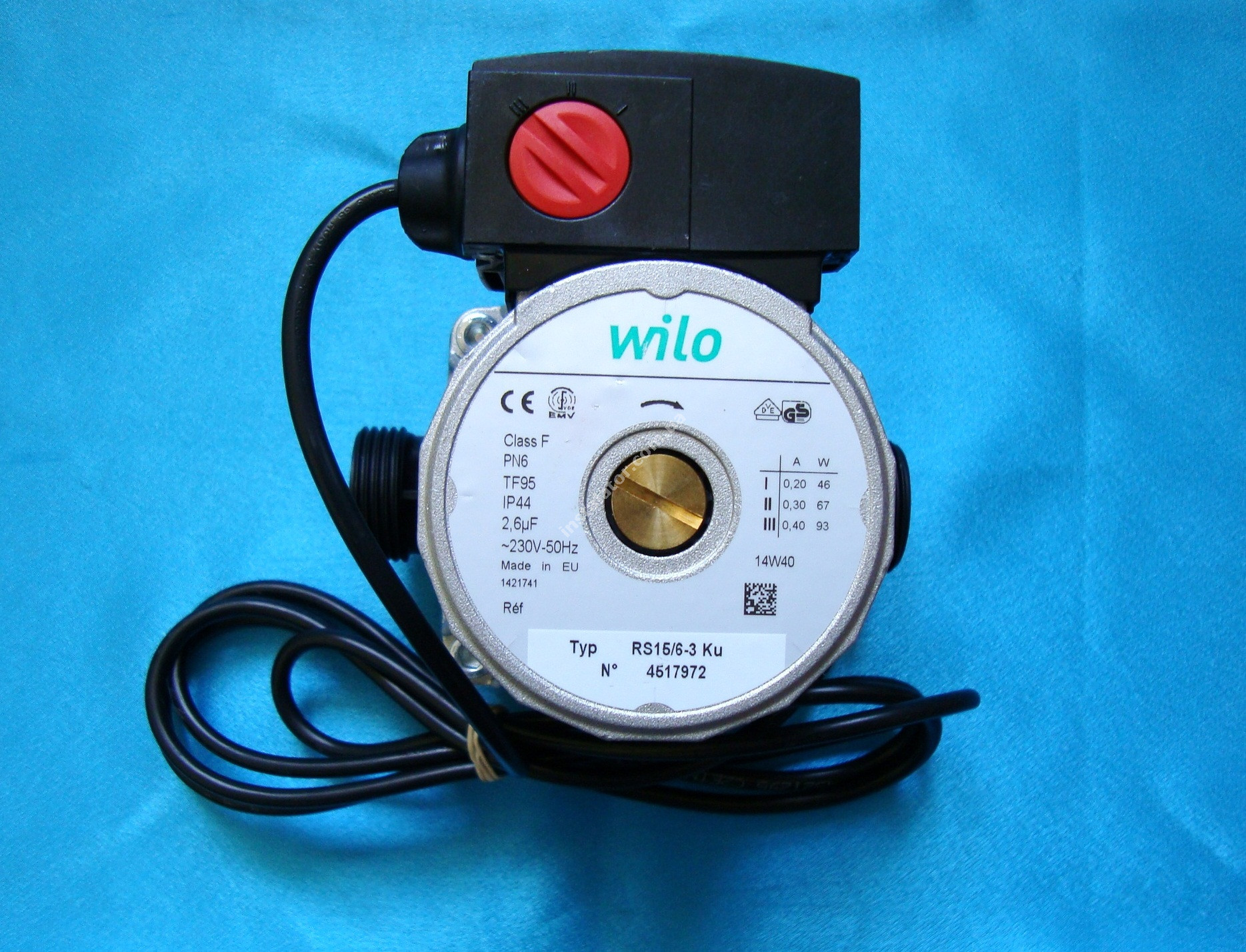 Циркуляційний насос Wilo RS 15/6 база 130