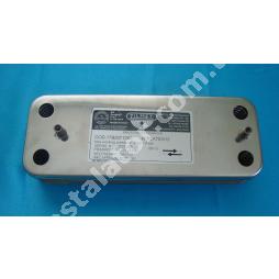 17B2071200 Теплообмінник вторинний ГВП 12 пластин BAXI, ZILMET