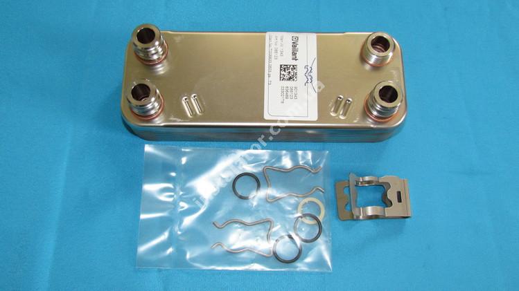 065131 Теплообменник вторичный (ГВП) 12 пластин Vaillant full-image-1