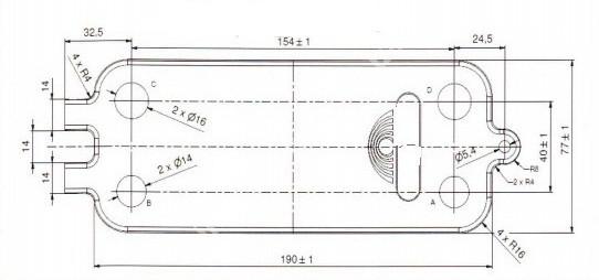 8716771987 Теплообмінник вторинний JUNKERS/BOSCH 16 пластин  full-image-0