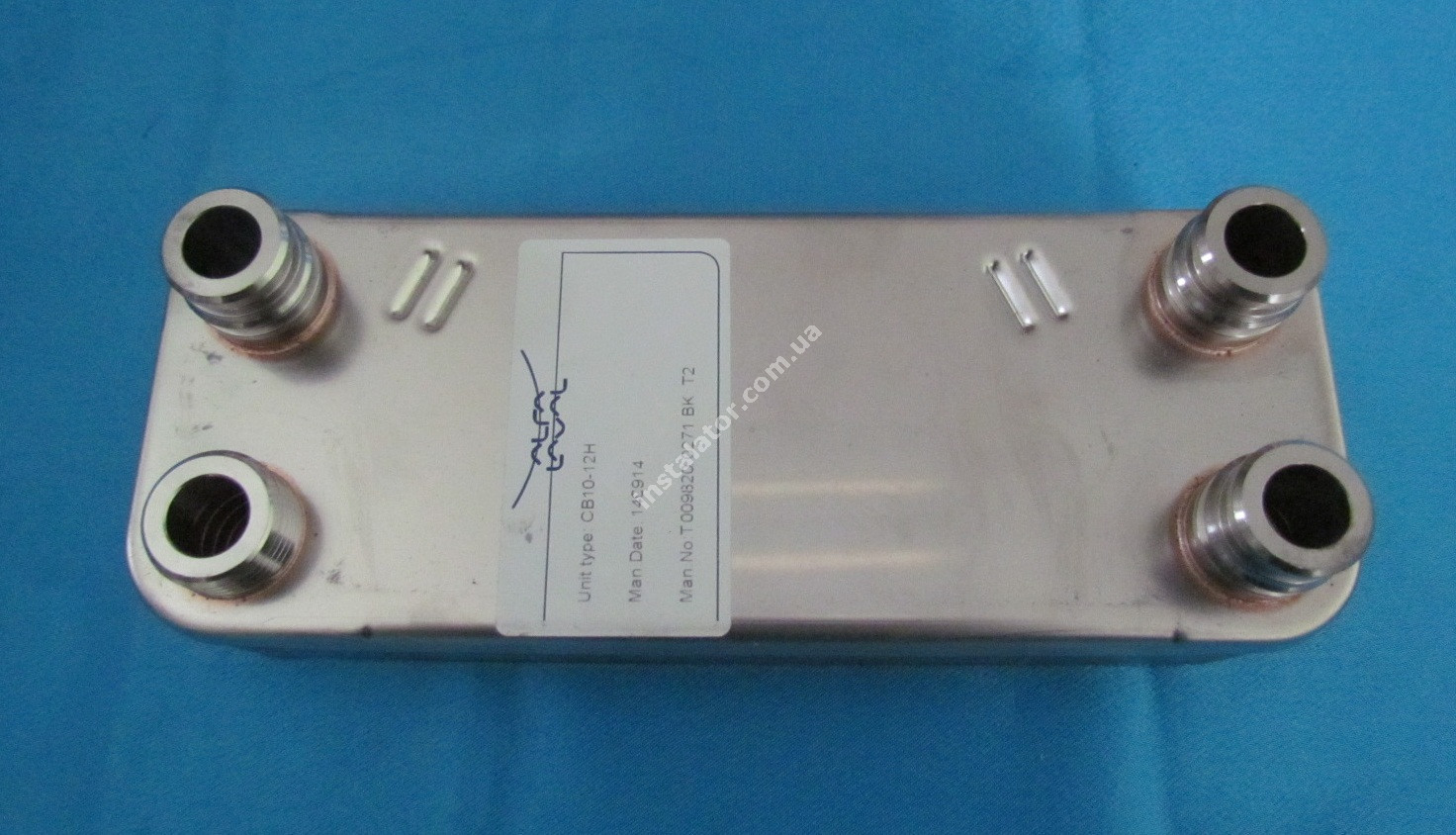 065131 Теплообмінник вторинний ГВП 12 пластин VAILLANT PRO-PLUS (зелені ручки) full-image-0