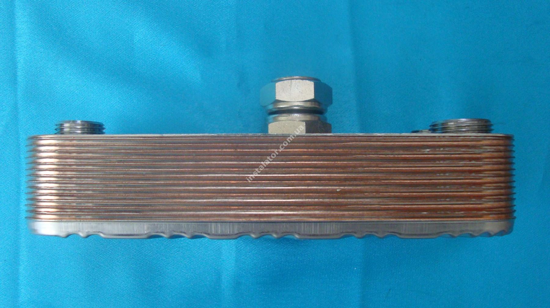 17B1901502 Теплообменник вторичный (ГВС) 15 пластин ZILMET full-image-0