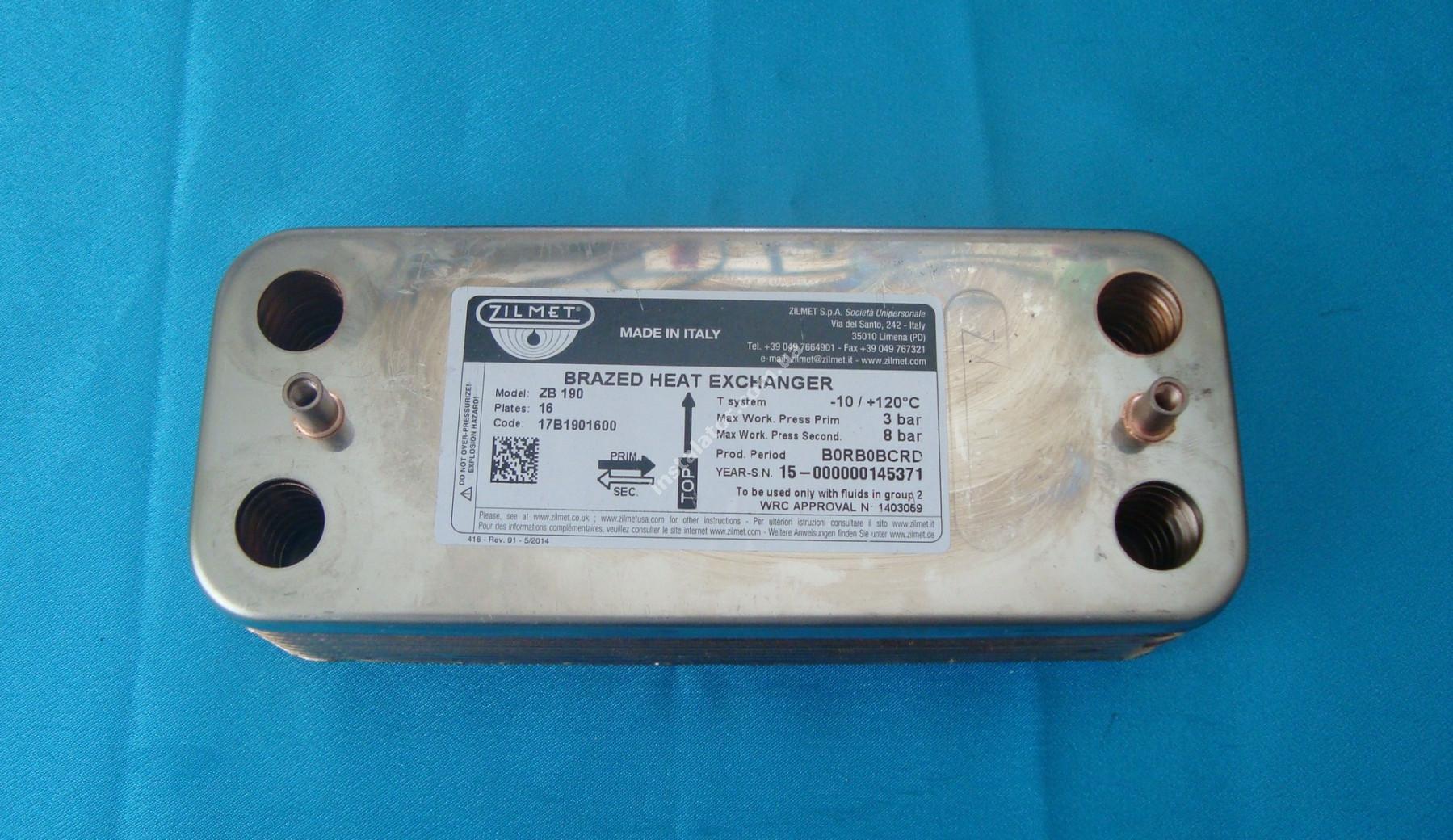 17B1901600 Теплообмінник вторинний ГВП 16 пластин ZILMET full-image-0