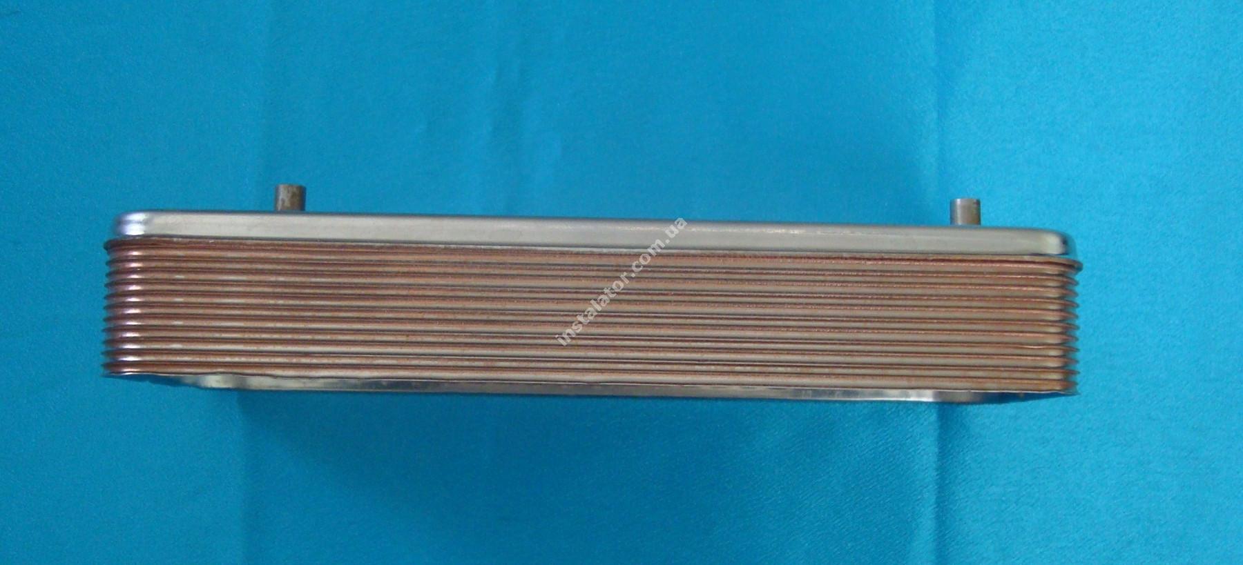 17B2071200 Теплообмінник вторинний ГВП 12 пластин BAXI, ZILMET full-image-2