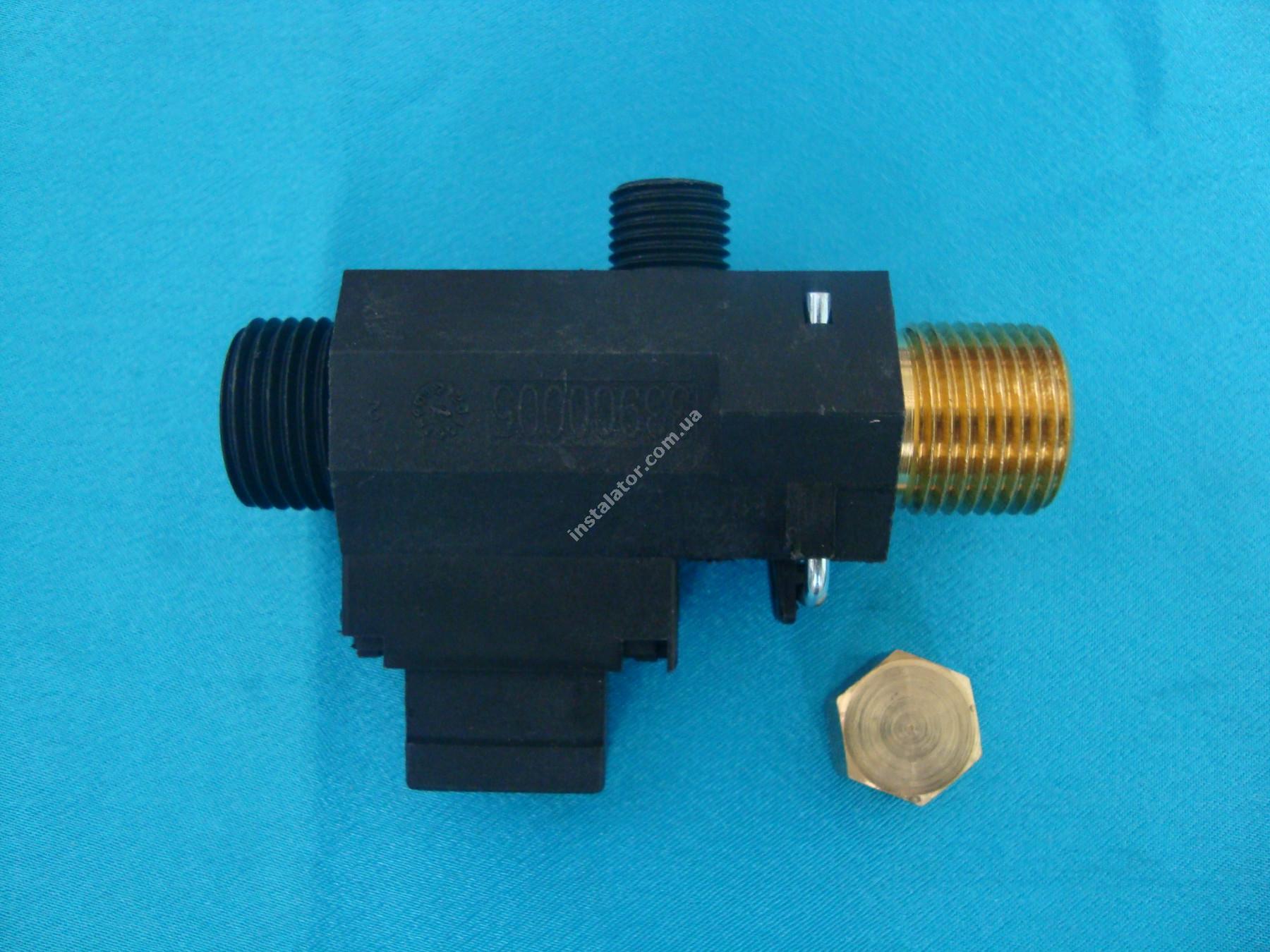 5663770 Реле (датчик) протока BAXI MAIN з підпиткою та заглушкою Bitron full-image-0