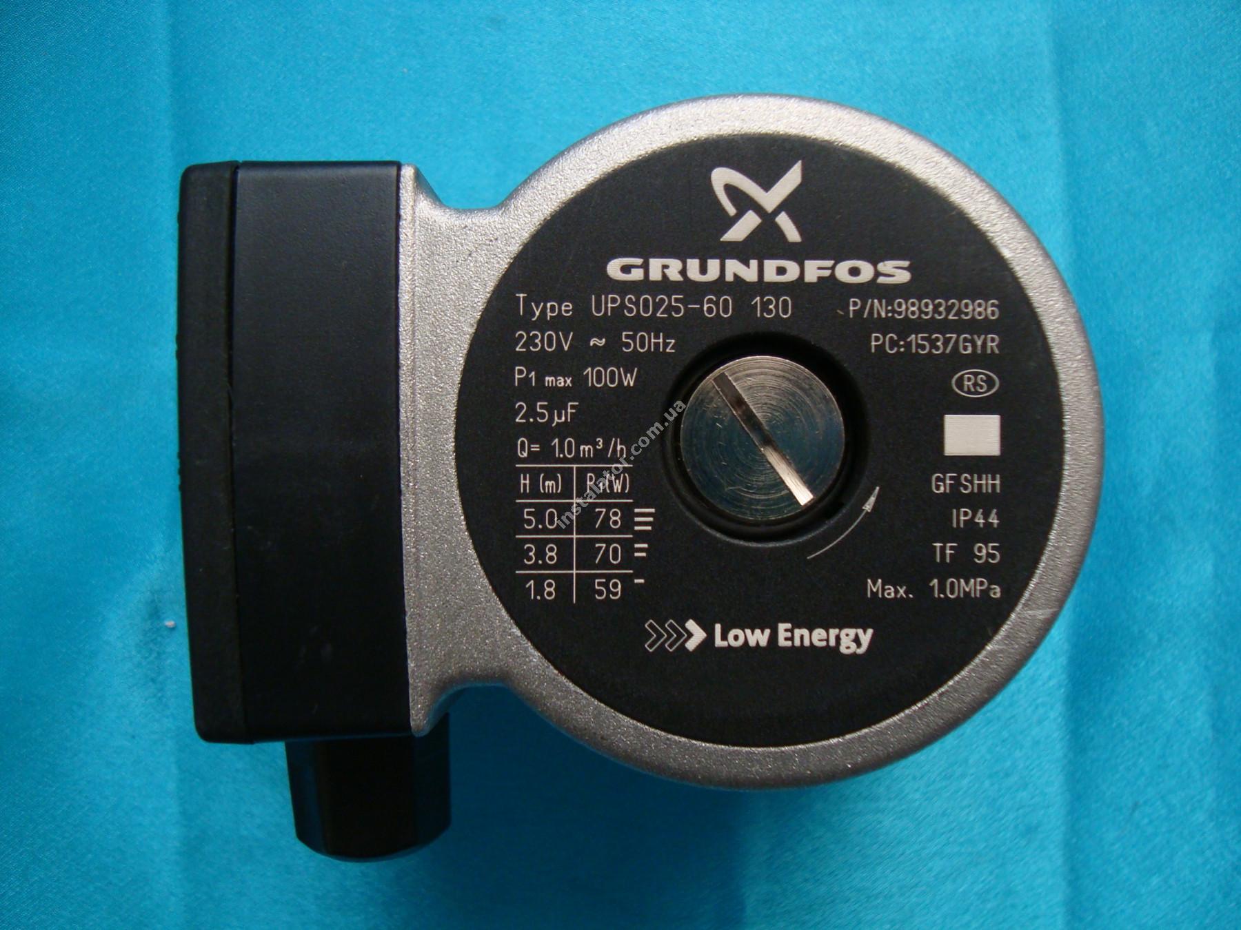 150100102 Циркуляційний насос Grundfos UPS 25-60 (база 130) full-image-0