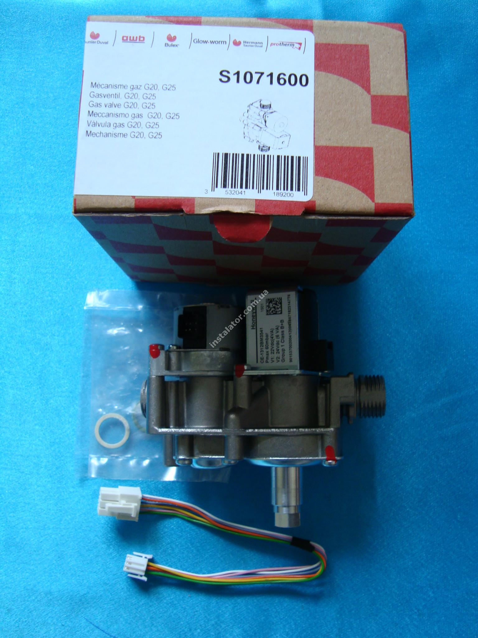 S1071600 Газовий клапан з регулятором SAUNIER DUVAL Themaclassic, Isofast, Combitek  full-image-1