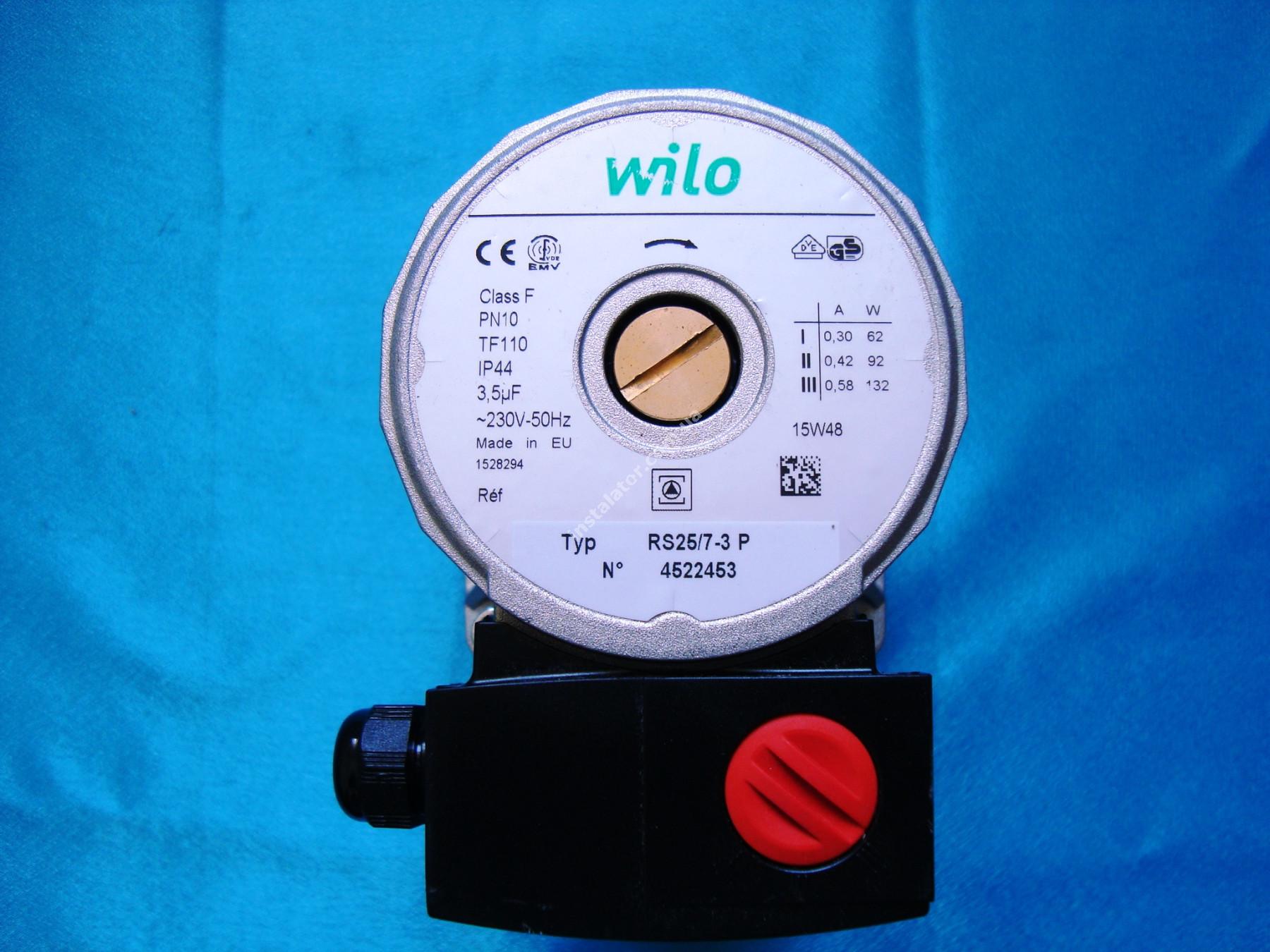 Циркуляційний насос Wilo RS 25/7 (сірий) full-image-1