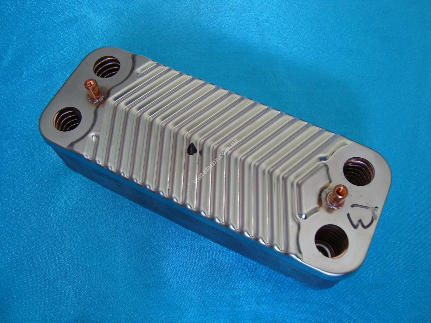 65104333 Теплообмінник вторинний SWEP 14 пластин ARISTON CLASS GENUS BS full-image-1