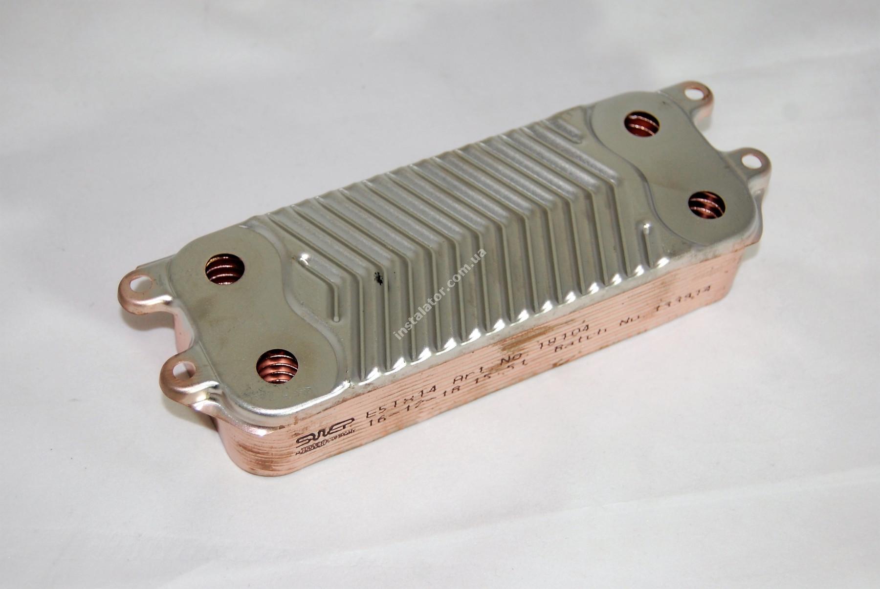 Теплообмінник ГВП з вушками VAILLANT TEC PRO, PLUS, R1 14 пластин full-image-2