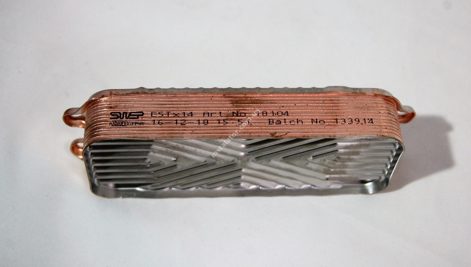 Теплообмінник ГВП з вушками VAILLANT TEC PRO, PLUS, R1 14 пластин full-image-3