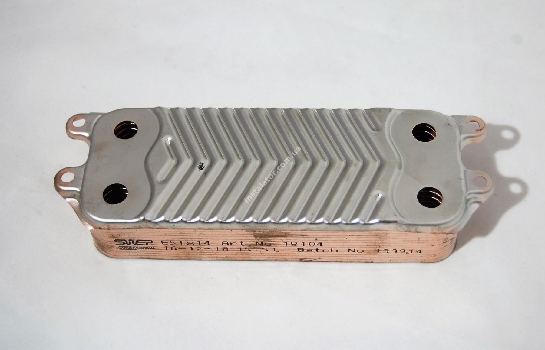 Теплообмінник ГВП з вушками VAILLANT TEC PRO, PLUS, R1 14 пластин full-image-4