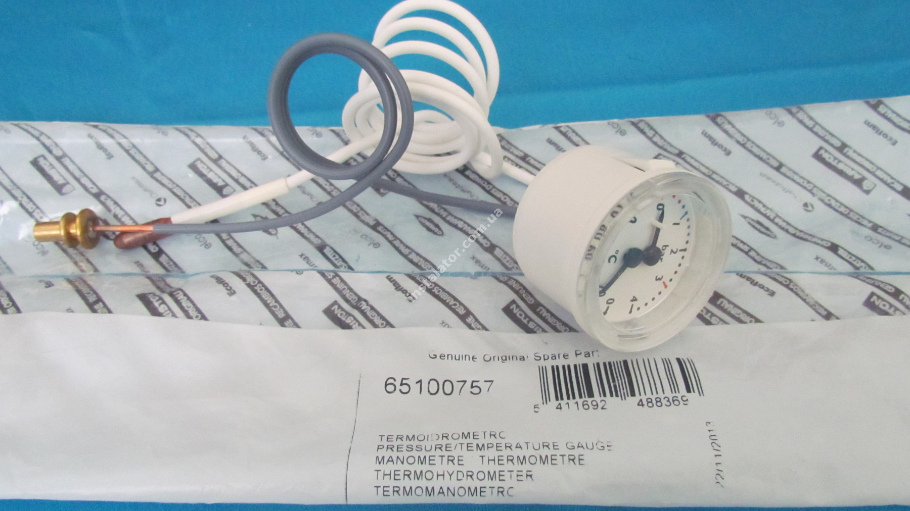 65100757 Термоманометр  ARISTON Uno  full-image-3