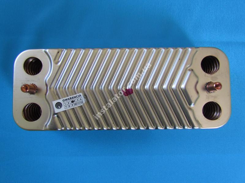1.022220 Теплообмінник вторинний ГВП 14 пластин IMMERGAS Nike Mini 24 kw, Eolo Mini 24 kw, Victrix 24 kw