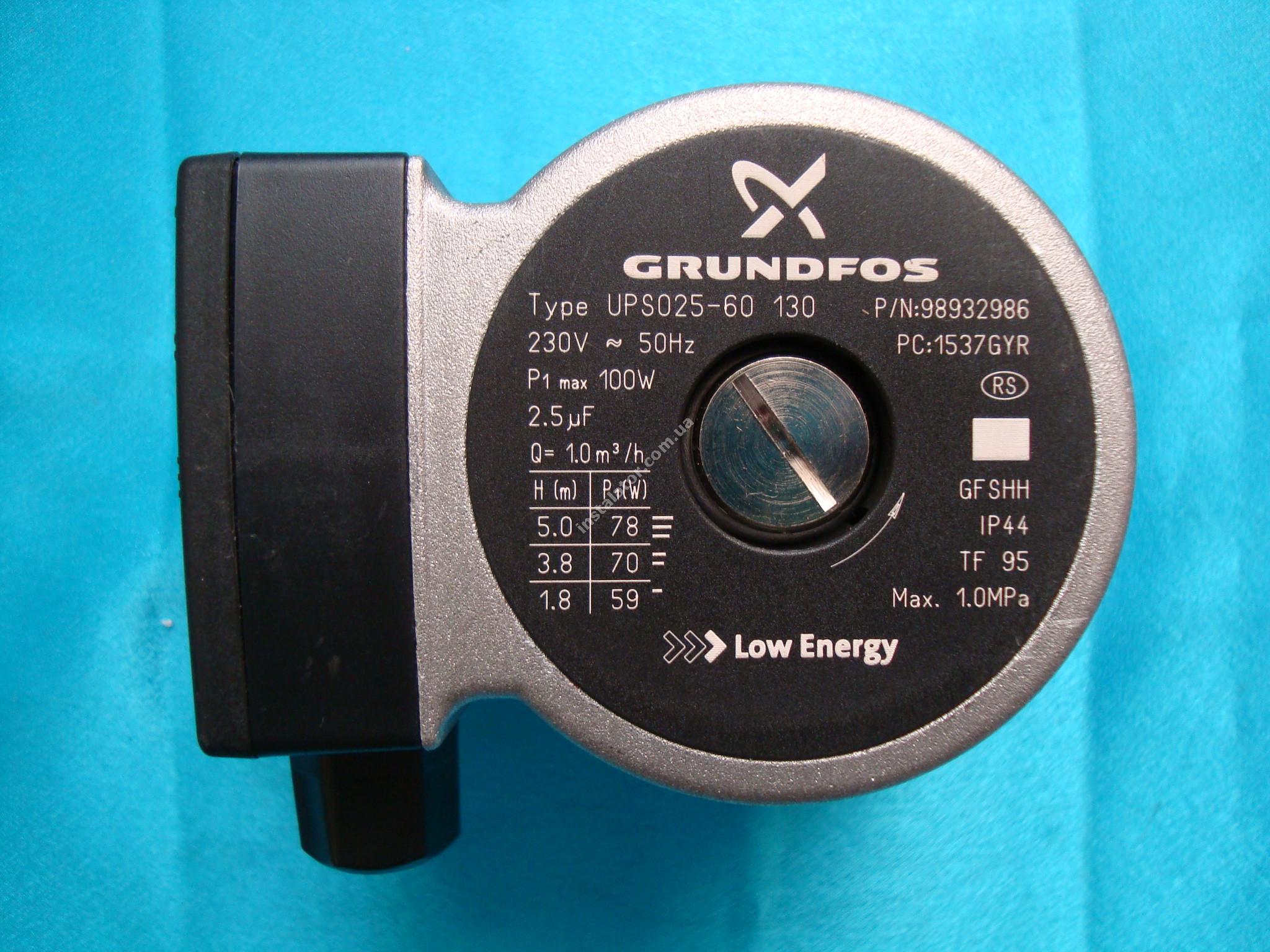 150100102 Циркуляційний насос Grundfos UPS 25-60 (база 130)