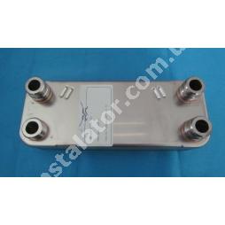 065131 Теплообмінник вторинний ГВП 12 пластин VAILLANT PRO-PLUS (зелені ручки)
