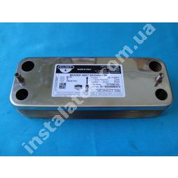 17B2071610 (61011164) Теплообмінник вторинний ГВП 16 пластин Chaffoteaux Nectra ZILMET